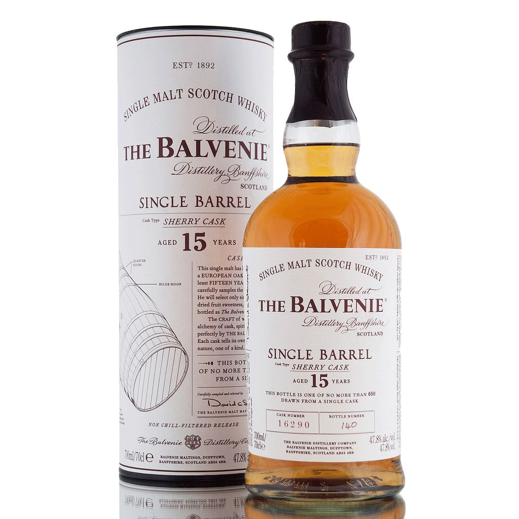 Spirits The Balvenie Scotch Single Malt 15 Year Sherry Cask