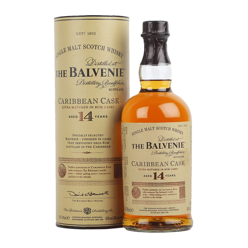 Spirits The Balvenie 14 Year Caribbean Cask Speyside Scotch