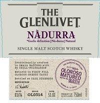 Spirits The Glenlivet Scotch Single Malt Nadurra Oloroso Matured Cask Strength