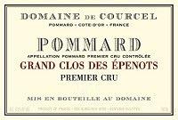 Wine Domaine de Courcel Pommard Grand Clos des Epenots Premier Cru 2013