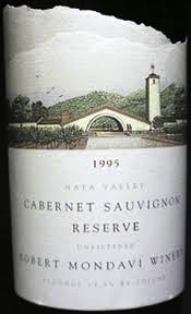 Wine Robert Mondavi Cabernet Sauvignon Napa Valley Reserve 1995