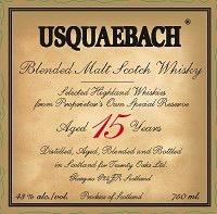 Spirits Usquaebach Scotch 15 Year