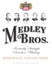 Spirits Medley Bros Kentucky Straight Bourbon Whiskey 102 Proof