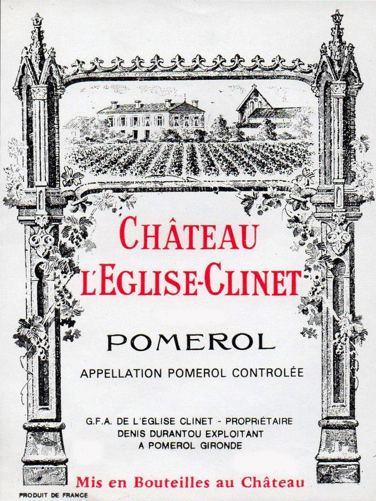 Wine Ch. l'Eglise Clinet 2009