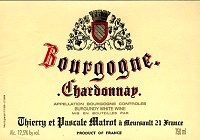 Wine Thierry et Pascale Matrot Bourgogne Blanc 2015