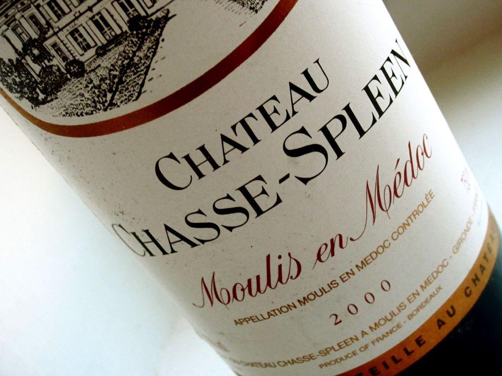Wine Chateau Chasse-Spleen 2000 1.5L