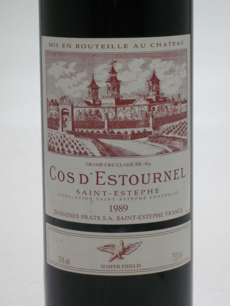 Wine Cos d'Estournel 1989