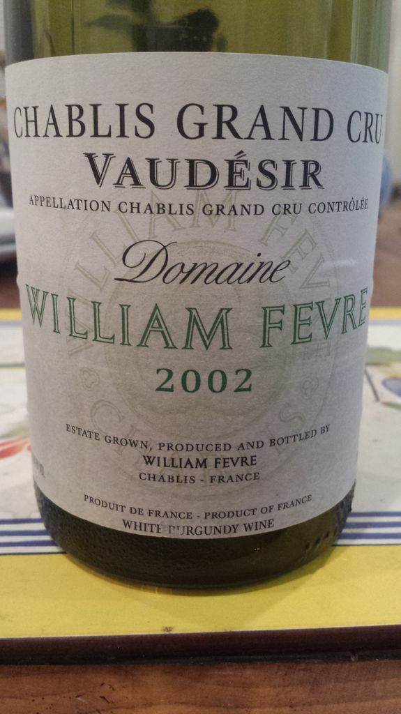 Wine WILLIAM FEVRE CHABLIS VAUDESIR GRAND CRU 2002