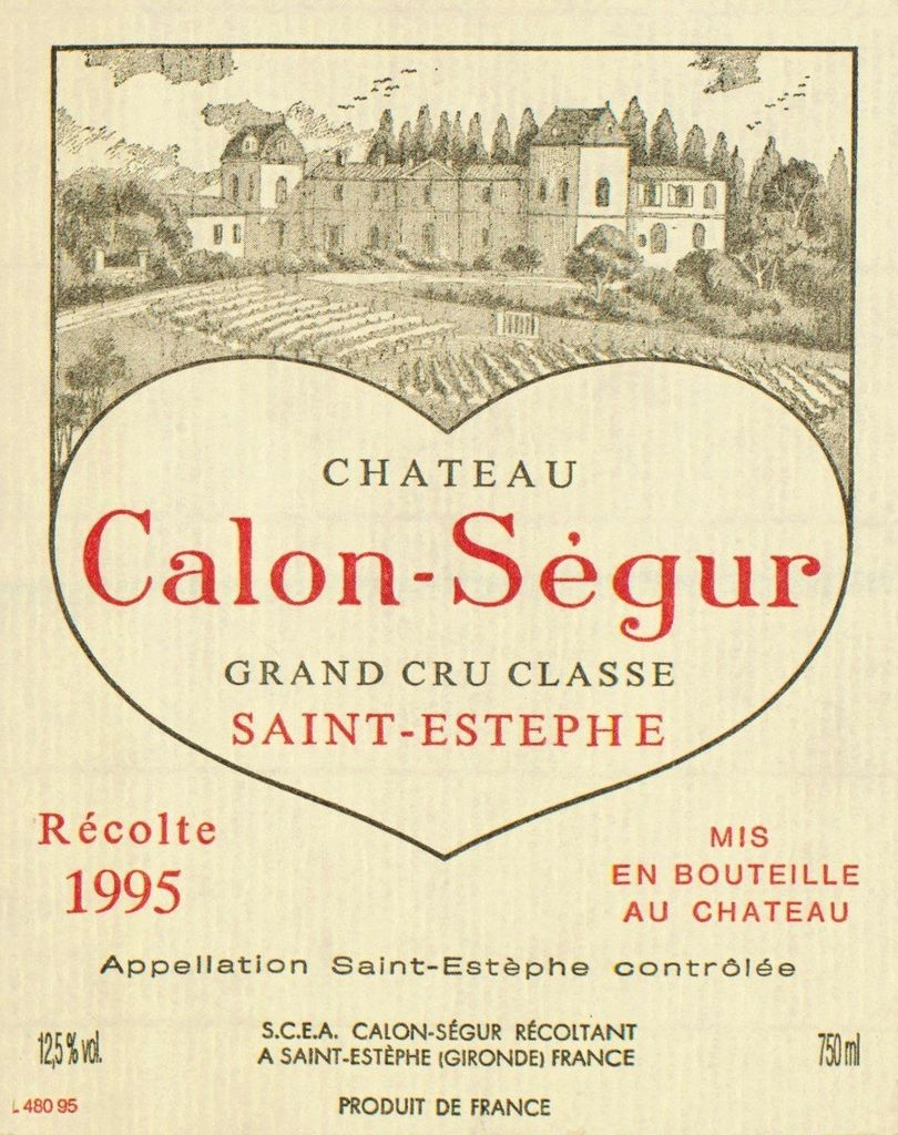 Wine Ch. Calon Segur 1995 3L