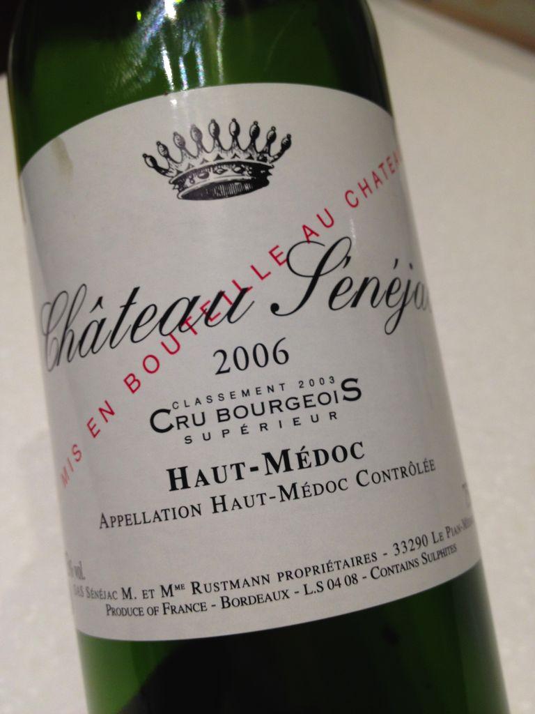 Wine Ch. Senejac 2006