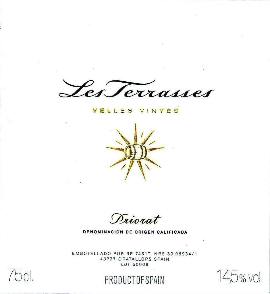 Wine PALACIOS 'LES TERRASSES' PRIORAT 1997 1.5L  OWC