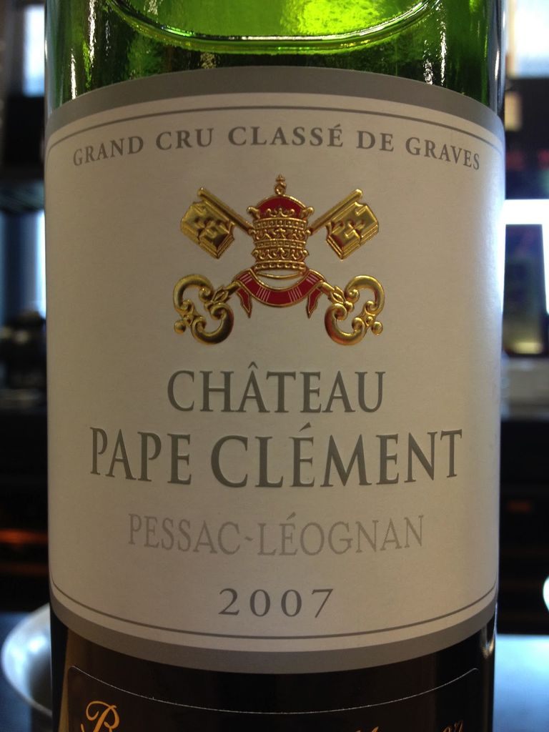 Wine Ch. Pape Clement Rge 2007