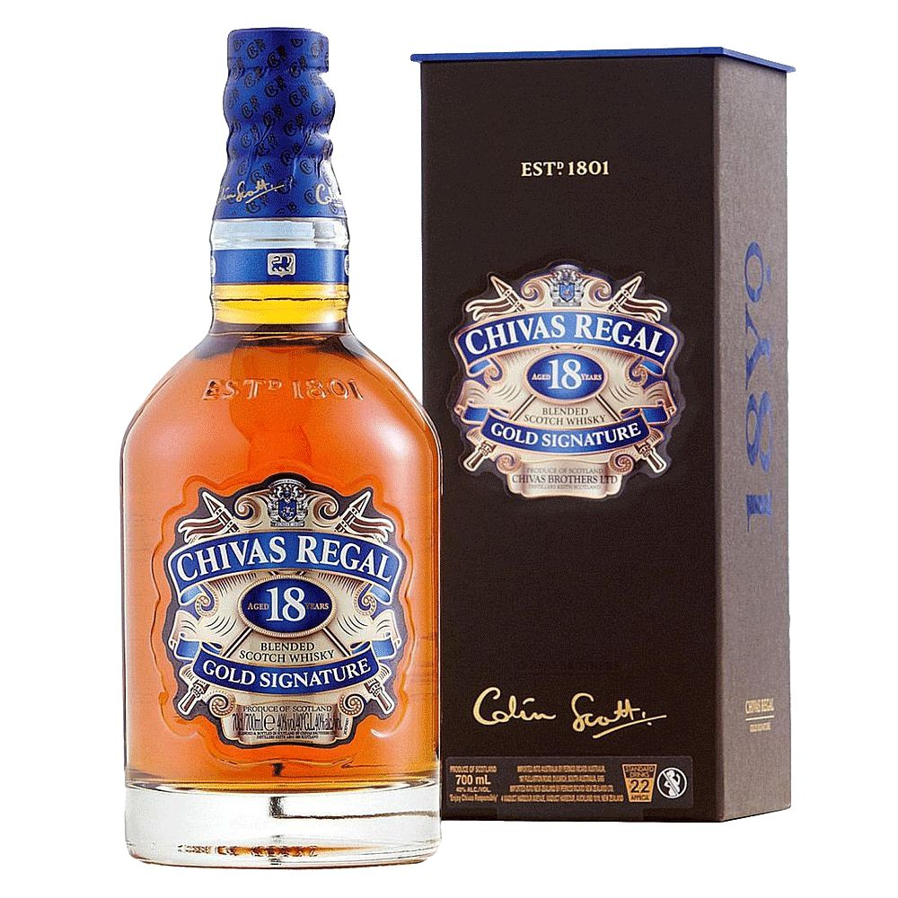 Spirits Chivas Regal 18 Year Gold Scotch Whisky Signature