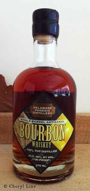 Spirits Delaware Phoenix Distillery Single Barrel Artisanal Bourbon 100% Pot Distilled 375ml