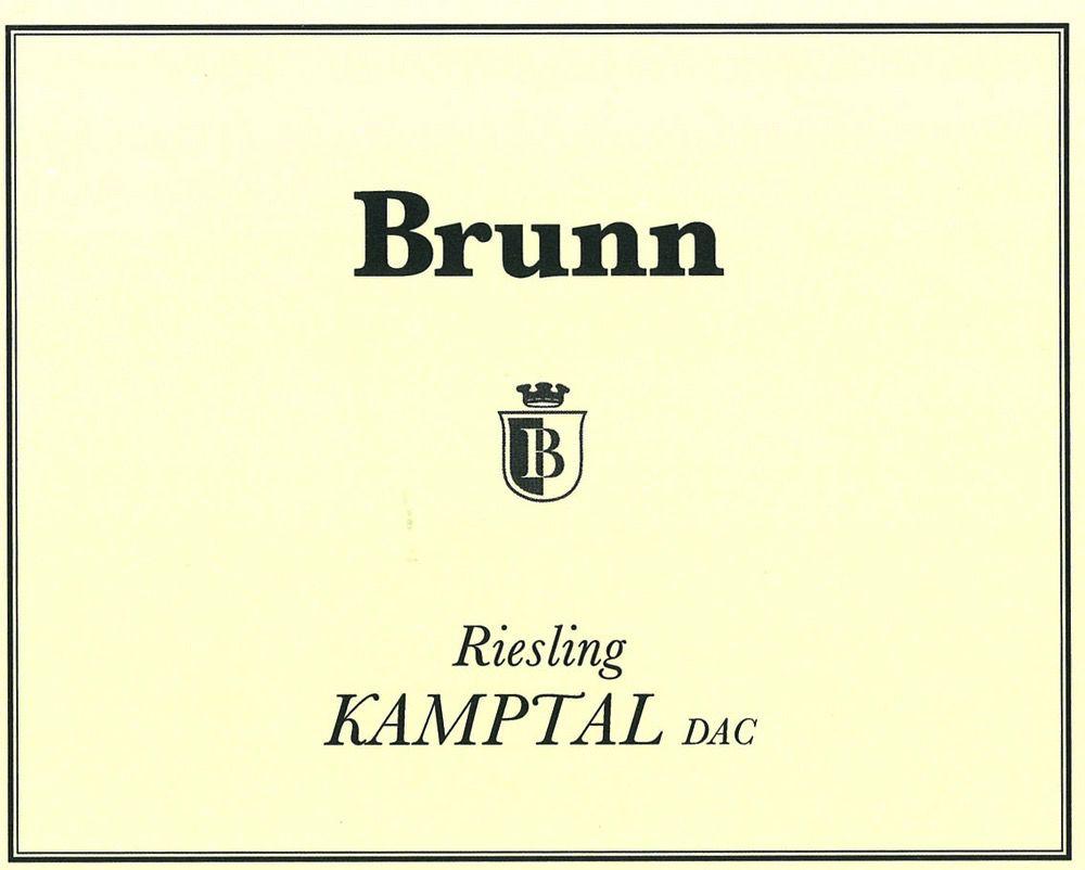 Wine Brunn Riesling Kamptal Austria 2014