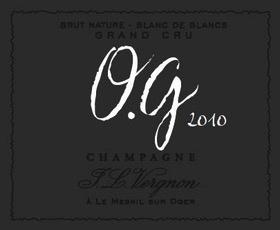 Sparkling Vergnon Champagne Brut Nature O.G Blanc de Blancs Grand Cru 2010