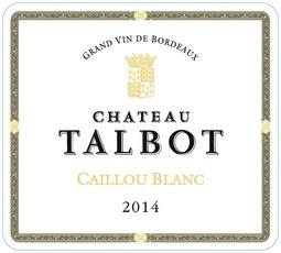 Wine Château Talbot, Caillou Bordeaux Blanc 2015