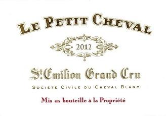 Wine Château Cheval Blanc, Le Petit Cheval Saint-Émilion 2014