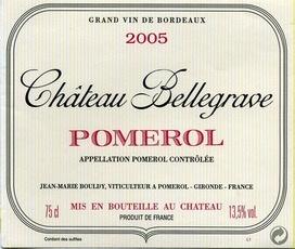 Wine Château Bellegrave, Pomerol 2011