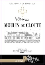 Wine Chateau Moulin de Clotte Castillon Cotes de Bordeaux 2014