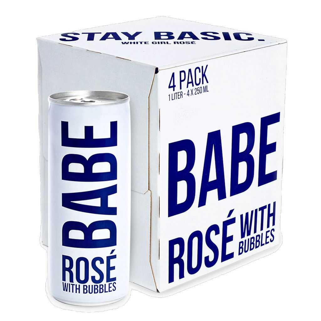 Sparkling Babe Rose With Bubbles 250 ml 4pack cans