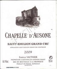 Wine Château Ausone, La Chapelle d'Ausone Saint-Émilion 2007