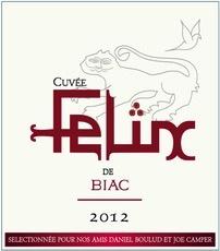 Wine Château Biac, Cuvée Felix de Biac Cadillac Côtes de Bordeaux 2014