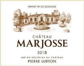 Wine Château Marjosse, Bordeaux 2015