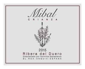 Wine Bodegas Hornillos Ballesteros Ribera del Duero Mibal Crianza 2015
