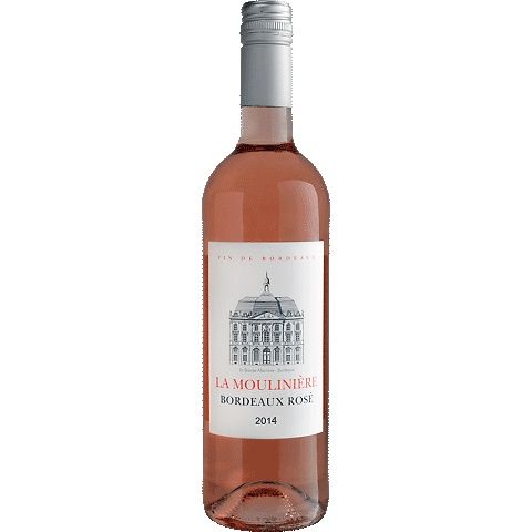 Wine La Mouliniere Bordeaux Rose 2016