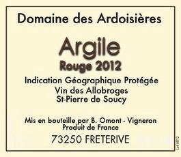 Wine Domaine des Ardoisieres Cuvee Argile Rouge St Pierre de Soucy 2016