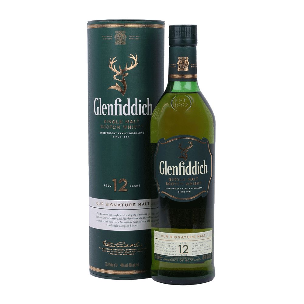 Spirits Glenfiddich Scotch Single Malt 12 Year Our Signature Malt