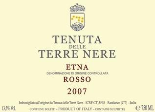 Wine Terre Nere Etna Rosso 2017
