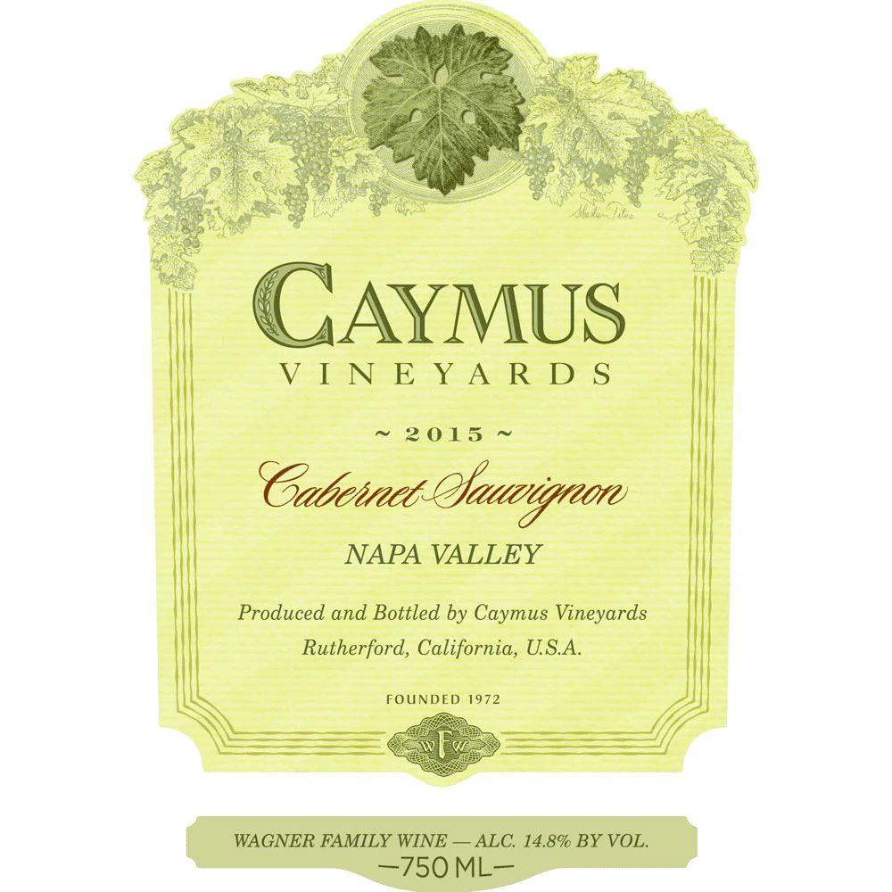 Wine Caymus Cabernet Sauvignon Napa Valley 2015