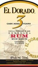 Spirits El Dorado Rum Cask-aged 3-Year White Rum