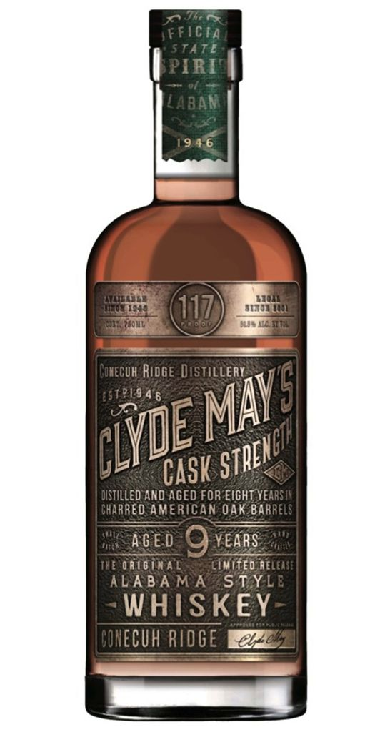 Spirits Clyde May's 9 Year Cask Strength Whiskey 117°