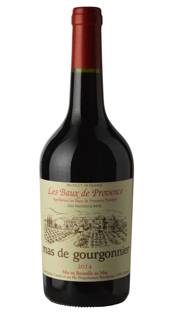 Wine Mas de Gourgonnier Les Baux de Provence Rouge 2015