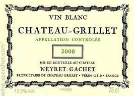 Wine Chateau Grillet 1995