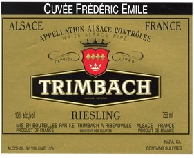 Wine Trimbach Riesling Cuvee Frederic Emile 2008