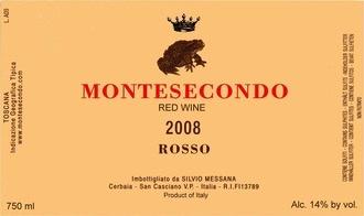 Wine Montesecondo Toscana Rosso