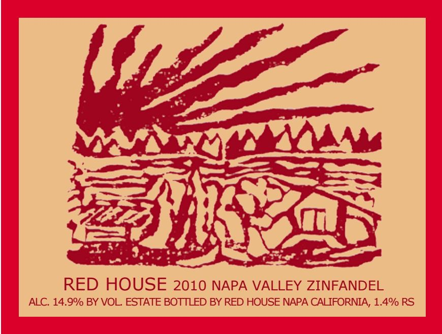 Wine Red House Zinfandel by Sky 2010