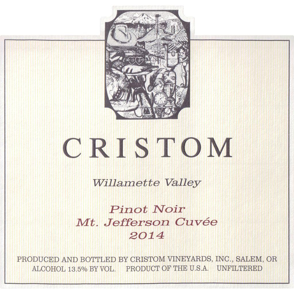 Wine Cristom Vineyards Willamette Valley Pinot Noir Mt Jefferson Cuvee 2014