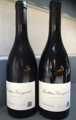 Wine Brittan Vineyards Willamette Valley Pinot Noir Basalt Block McMinnville 2014