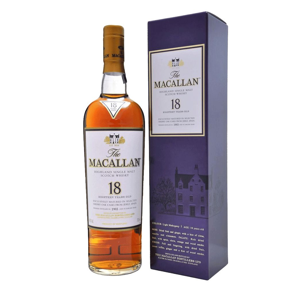 Spirits Macallan 18 Year Sherry Oak Single Malt Scotch