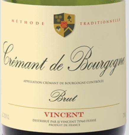 Sparkling JJ Vincent Cremant de Bourgogne Brut