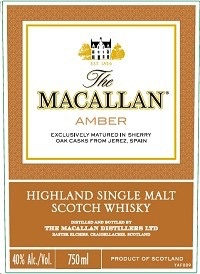 Spirits Macallan Amber