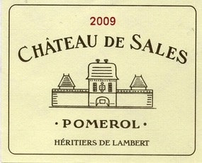 Wine Ch. de Sales 2012
