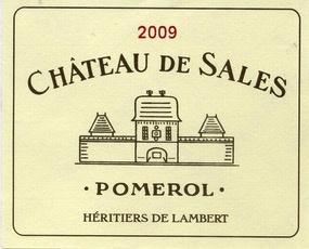 Wine Ch. de Sales Pomerol 2012