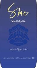 Wine Sho Chiku Bai Junmai Organic Sake 720ml