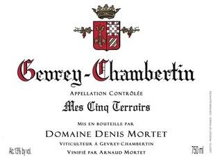 Wine Denis Mortet Gevrey Chambertin Mes Cinq Terroirs 2015